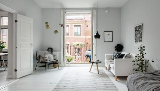 Design Inspiration – Kleine Wohnung in weiß grau Tönen