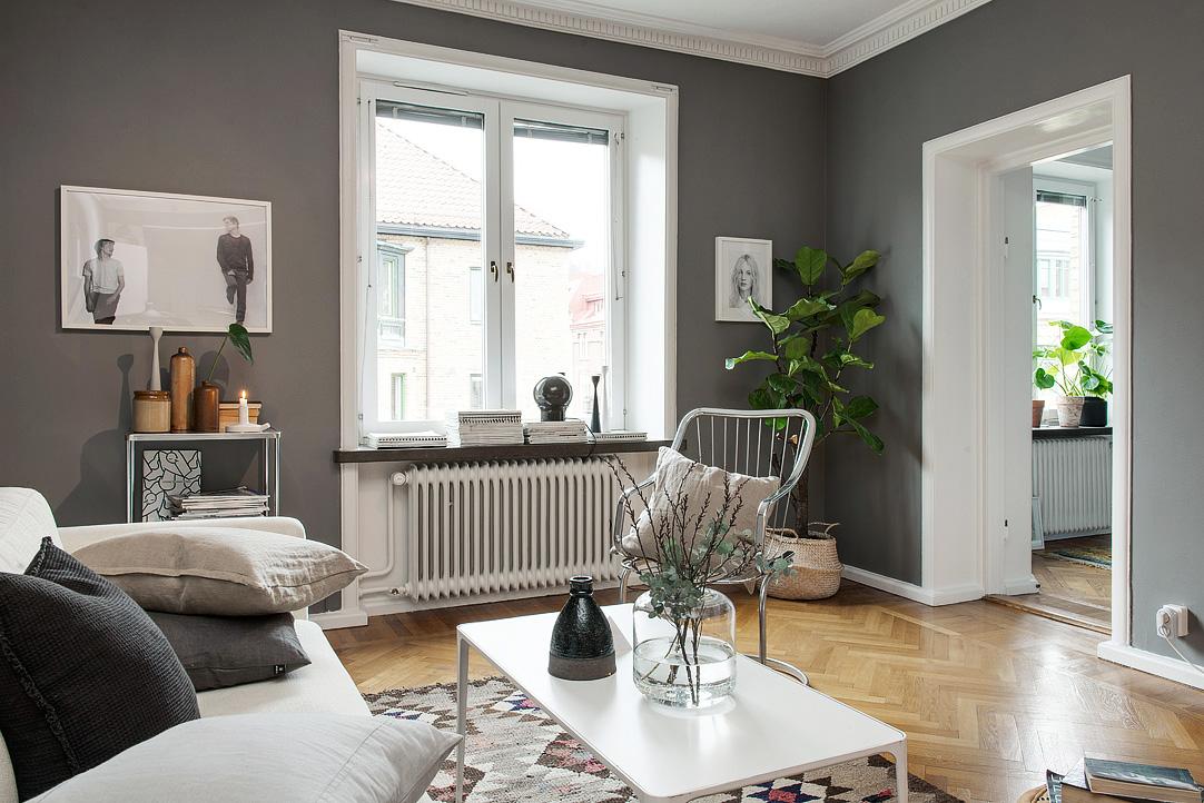 wandfarben wohnzimmer 2016:Wohninspiration – Wohnung mit dunklen ...