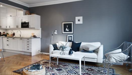Wohninspiration – Wohnung mit dunklen Wandfarben
