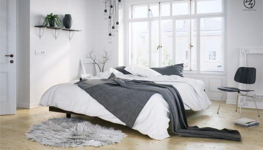 Skandinavisches Schlafzimmer Inspiration
