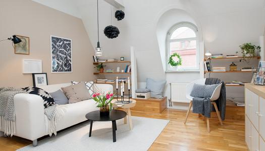 Wohnzimmer – Nordisch, hell und gemütlich