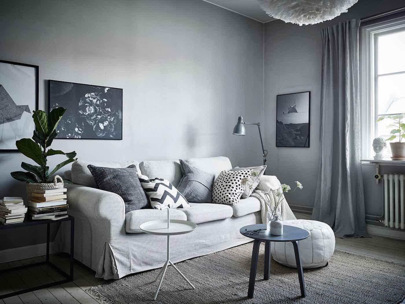 Wohnzimmer blau grau: ledersofa wohnzimmer farbtrends. wandfarbe ...