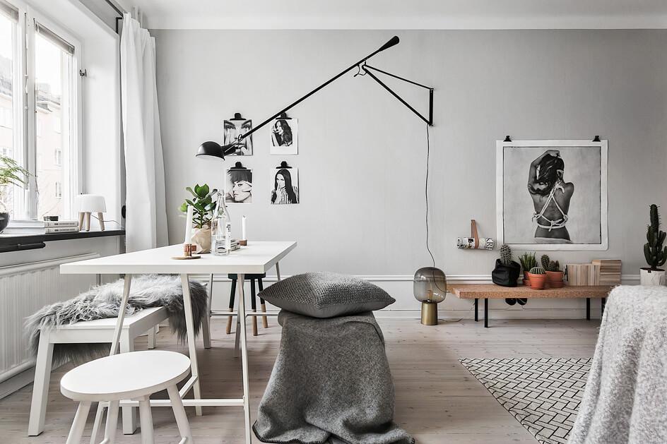 Wohnzimmer In Weiß Grau