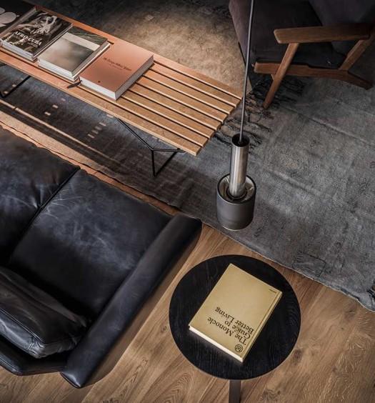 Wohnzimmer-modern-retro-ledersofa