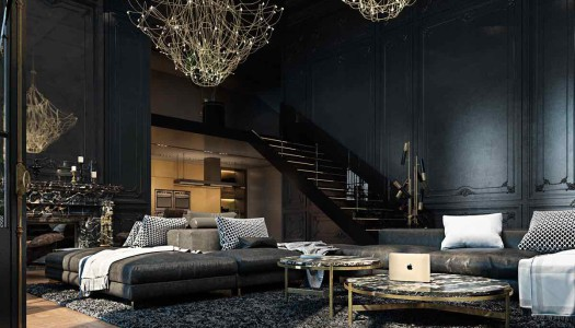 Paris Apartment in Black & Gold