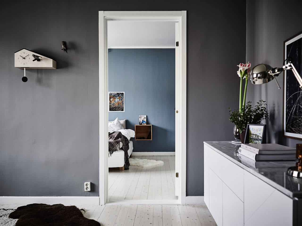 blaues schlafzimmer wohnideen