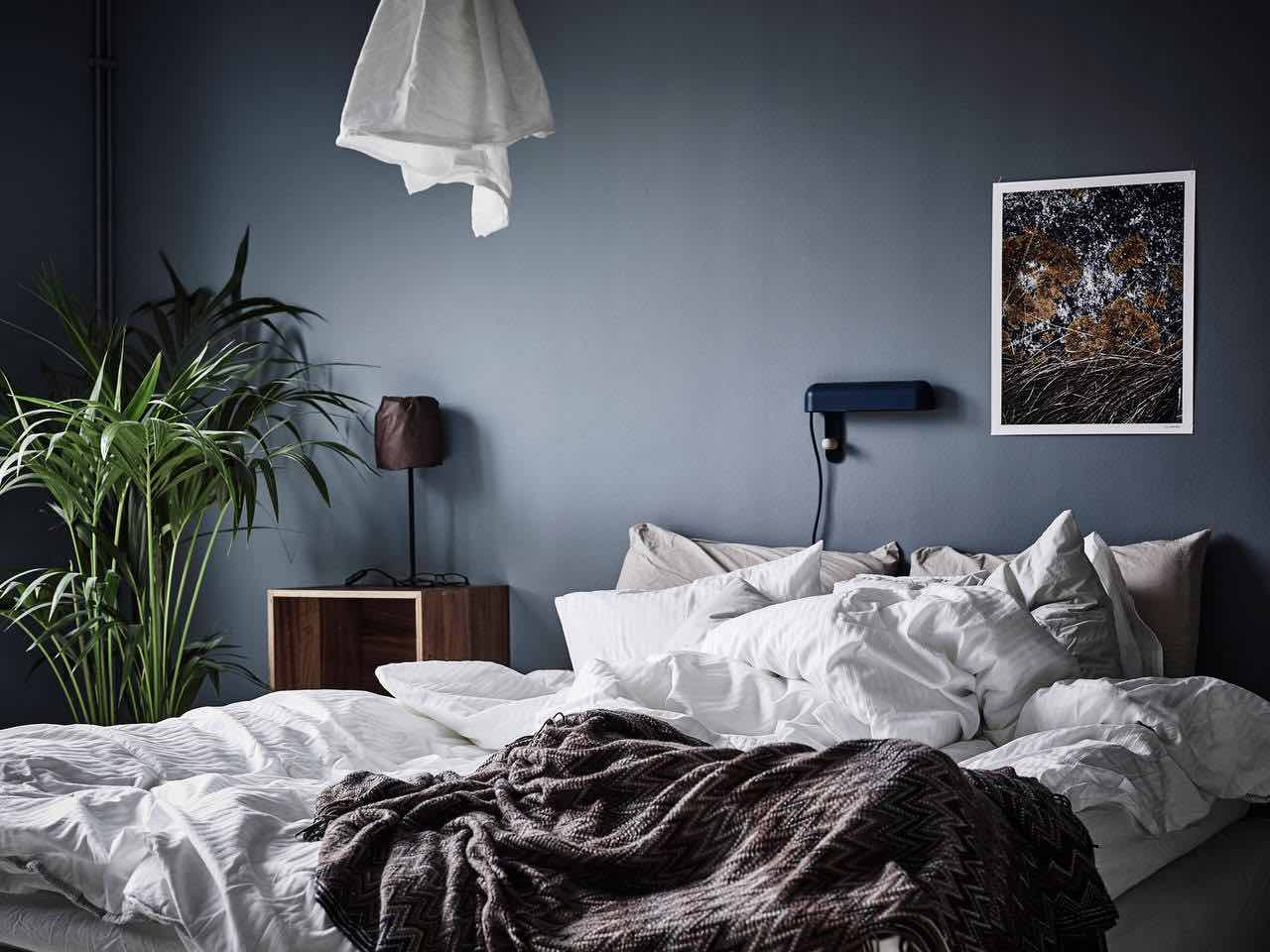 Wandfarbe Schlafzimmer Grau: Wandfarbe grau Ideen (. Bilder ...