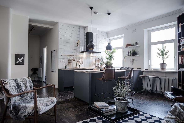 Design-Wohnung mit schwarzen Akzenten - Designs2love