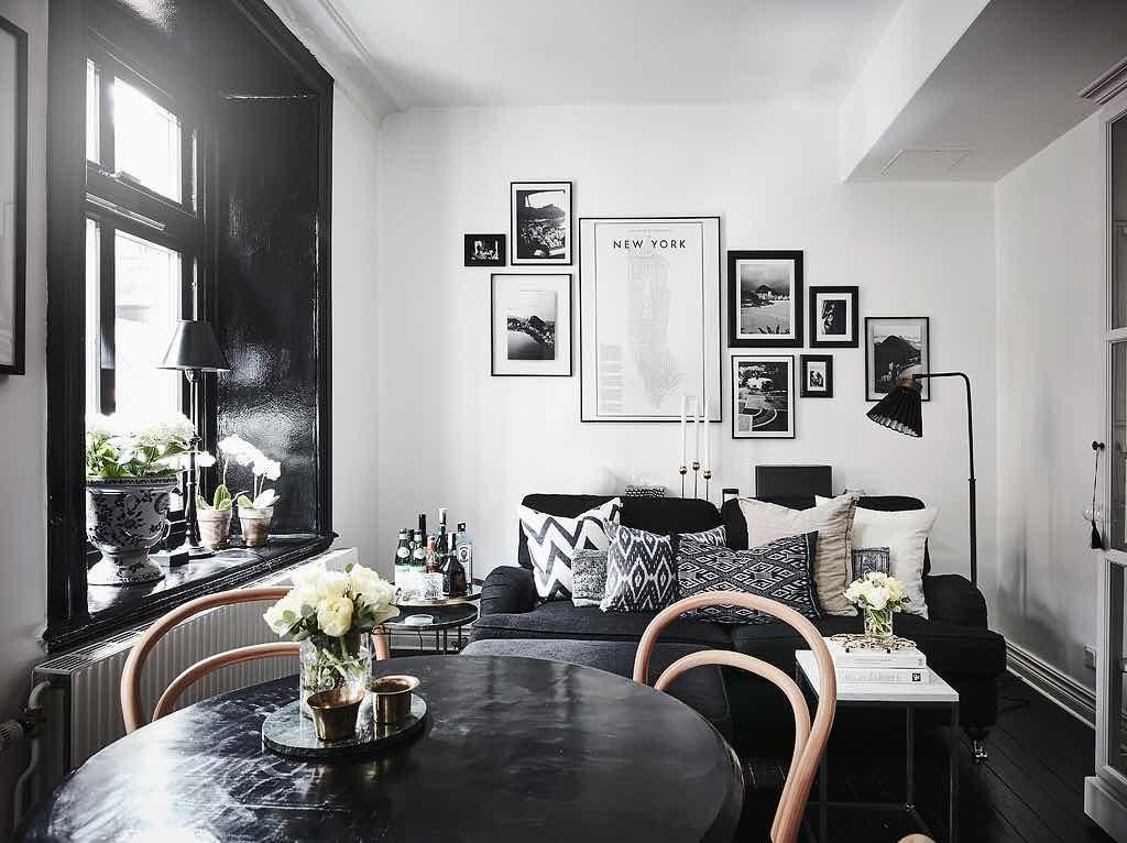 Wohnzimmer-Dielen-Schwarz