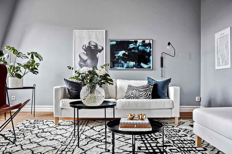 moderne wohnung in blaut nen designs2love. Black Bedroom Furniture Sets. Home Design Ideas